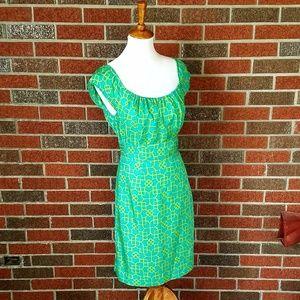 Milly of New York Geometrical Silk Dress